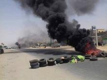 متظاهرون يغلقون الطريق بين ملتقى طرق تنسويلم، والرابع والعشرين