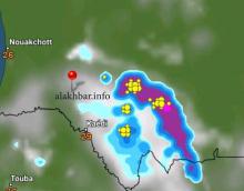 توزع الأمطار المتوقعة فجر السبت القادم ـ (الأخبار)