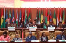 بعض القادة الأفارقة خلال القمة 31 بالعاصمة نواكشوط.