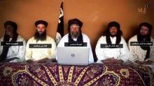 قادة الحركات الجهادية الناشطة في شمال مالي خلال إعلانهم الاندماج