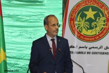 وزير التعليم الثانوي ماء العنين ولد ابيه خلال المؤتمر الصحفي مساء اليوم (الأخبار)