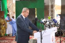 وزير الاتصال الجزائري وزير الثقافة وكالة حسان رابحي خلال كلمته في افتتاح المهرجان (وما)