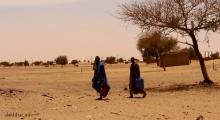 مواطنون بأحد شوارع ترمسه يحملون قنينات خاوية بحثا عن مياه شرب _ (الأخبار)