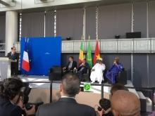 رؤساء موريتانيا وفرنسا ومالي وبوركينافاسو خلال حفل افتتاح المعرض ـ (AMI)