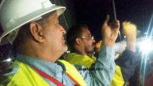 عمال شركة تازيازت خلال إضراب سابق لهم (الأخبار - أرشيف)