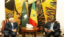 الرئيس السنغالي ماكي صال ومحمد جواد ظريف وزير الخارجية الإيراني.
