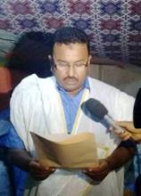 جانب من خطاب العمدة أحمد ولد باري في بلدية بولنوار (تصوير الأخبار)