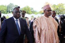 الرئيسان النيجيري محمدو بخاري والسنغالي ماكي صال.
