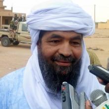 """أمير جماعة أنصار الدين، وأحد زعماء قبيلة """"إيفوغاس"""" الطارقية إياد أغ غالي"""