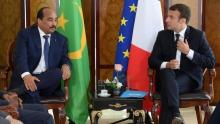 الرئيسان الفرنسي إيمانويل ماكرون والموريتاني محمد ولد عبد العزيز.