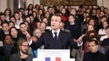 إيمانويل ماكرون الرئيس الفرنسي.