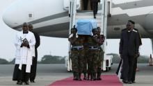 وصول جثمان كوفي عنان العاصمة أكرا.