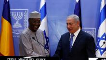 رئيس وزراء الاحتلال الإسرائيلي بنيامين نتنياهو والرئيس اتشادي إدريس ديبي.