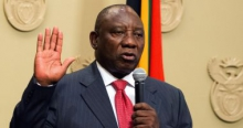 سيريل رامافوزا رئيس جنوب إفريقيا.