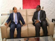 الرئيسان السنغال ماكي صال ونظيره الموريتاني محمد ولد عبد العزيز