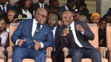الرئيسان الكونغوليان، السابق جوزيف كابيلا، والحالي فيليكس تشيسكيدي.