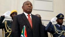 سيريل رامافوسا: رئيس جنوب إفريقيا.