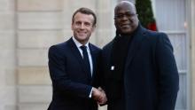 الرئيسان الكونغولي فيليكس تشيسكدي والفرنسي إيمانويل ماكرون