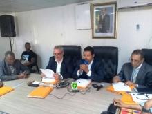 جانب من اجتماع الذي جرى زوال اليوم في الشامي (الوكالة الرسمية)