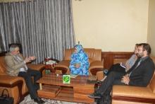 ممثل البنك الدولي خلال لقائه مع مفوضة الأمن الغذائي (وما)