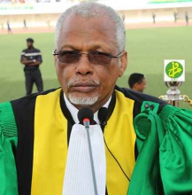 رئيس المجلس الدستوري الموريتاني اسغير ولد امبارك (وما)