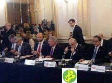 ولد أحمد إزيد بيه (الأول من اليمين) خلال مشاركته الاثنين في المنتدى الإقليمي الثاني لإتحاد البحر الأبيض المتوسط في برشلونة (وما)