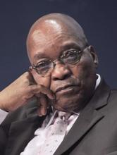 جاكوب زوما رئيس جنوب إفريقيا.