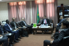 وزير الاقتصاد والمالية المختار ولد اجاي خلال لقاء مع بعثة صندوق النقد الدولي.