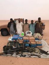 الأشخاص المعتقلون وكميات المخدرات والأسلحة المحتجزة في الشمال الموريتاني.