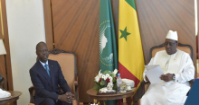 الرئيس السنغالي ماكي صال والوزير الأول السابق محمد بون عبد الله ديون