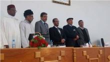 لباحث الموريتاني علي محفوظ مع لجنة النقاش