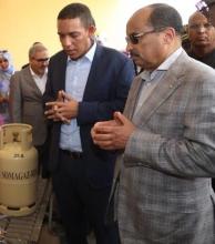 ولد عبد العزيز، وولد عبد الفتاح خلال زيارة قام بها الأول لشركة سوما غاز خلال إدارة الأخير لها