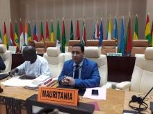 وزير الاقتصاد والمالية المختار ولد اجاي خلال الاجتماع ـ (صفحة الوزير على فيسبوك)