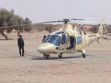 مروحية عسكرية تابعة للجيش الموريتاني تولت نقل الرئيس الغيني إلى الدوشلية