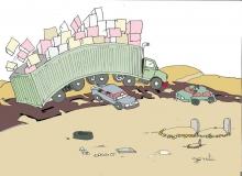الفنان التشكيلي خالد ولد مولاي إدريس عبّر بطريقته الخاصة معلقًا على حادث السير المؤلم ـ (الأخبار)