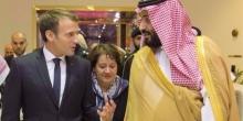 الرئيس الفرنسي إيمانويل ماكرون، وولي عهد السعودية محمد بن سلمان