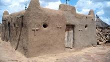 مبنى لإحدى الكنائس في جمهورية مالي.