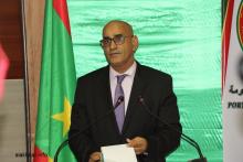 وزير الصيد والاقتصاد البحري الناني ولد اشروقه خلال المؤتمر الصحفي (الأخبار)