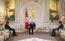 الرئيس التونسي خلال استقبلاله للمبعوث الخاص من الرئيس الموريتاني