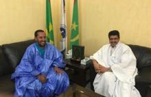 النائب محمد عبد الرحمن ولد الصبار في لقاء سابق مع رئيس حزب الاتحاد الحاكم