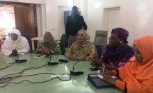 برلمانيات خلال مؤتمر صحفي ظهر اليوم بالجمعية الوطنية (الأخبار)
