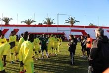 """منتخب موريتانيا للمحليين """"المرابطون"""" خلال تحضيراته للمباراة"""