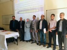 الباحث الموريتاني محمدو ولد الخليفة مع لجنة نقاش أطروحته