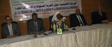 منصة افتتاح الورشة صباح الاثنين في نواكشوط (وما)