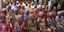 الفتيات النيجيريات المحررات من قبضة جماعة بوكوحرام.