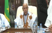 ولد الشيخ الغزواني أثناء زيارته لحزب الاتحاد من أجل الجمهورية ـ (الأخبار)