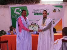 رئيس جمعية الشبيب الجديد  المختار ولد أحمد ميلود (يمين) إلى جانب رئيسها المنتهية ولايته الحسن ولد بدو