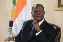 الحسن واتارا رئيس جمهورية ساحل العاج.