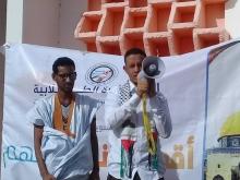 رئيس المبادرة محمد محمود ولد محمد خلال كلمته في اختتام حفل أسبوع الأقصى في موريتانيا