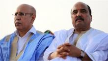 الرئيسان الموريتانيان السابق محمد ولد عبد العزيز، والحالي محمد ولد الغزواني